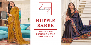 Ruffle Saree is the Hottest and Trending Style this Season