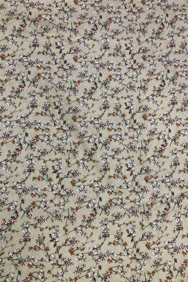 Beautiful Beige color floral digital print cotton fabric