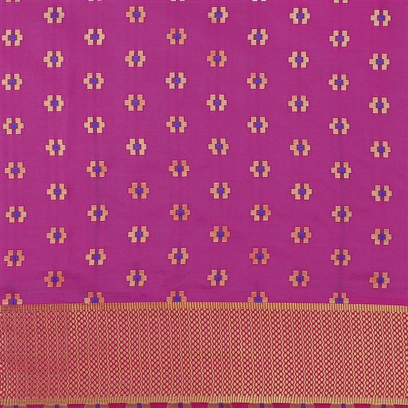 Art Silk Rani Color Party Wear Saree With Fancy Weaving Designs