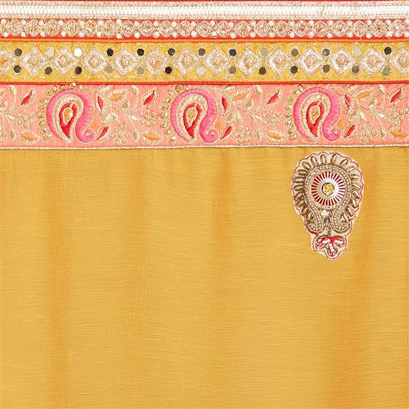 Attractive Chiffon Saree With Border Work For Function Wear