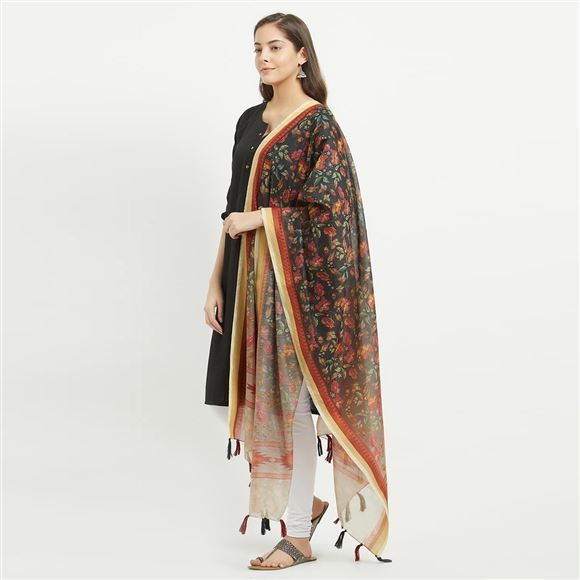 Attractive Digital Printed Chanderi Silk Dupatta - GN-RSM-06