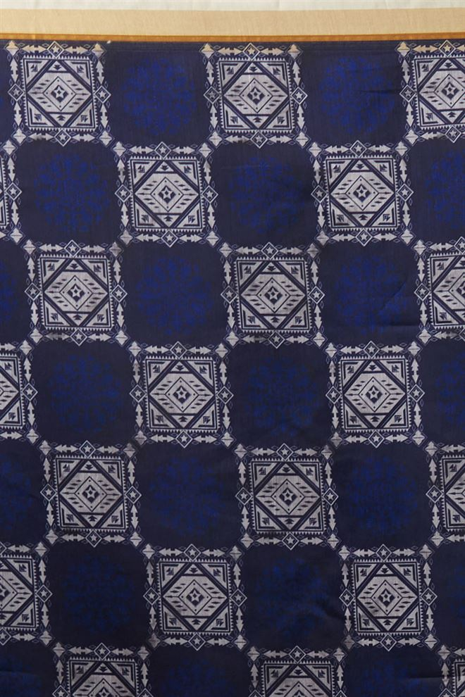 Beautiful Chanderi Silk Navy Blue Color Function Wear Printed Dupatta