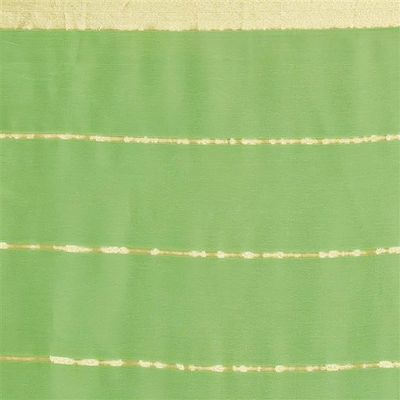Beautiful Plain Georgette Saree In Green Color For Casual Wear
