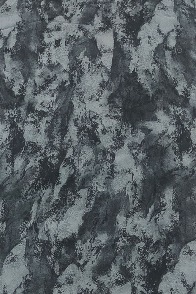 Black And Grey Abstarct Print Georgette Fabric
