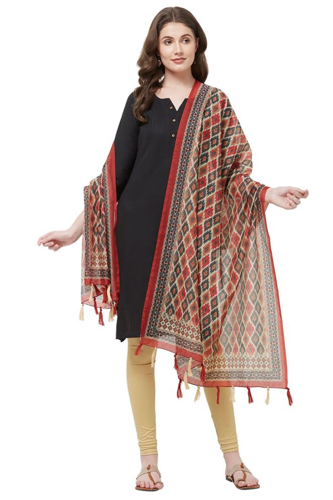 Digital Ethnic Print Dupatta
