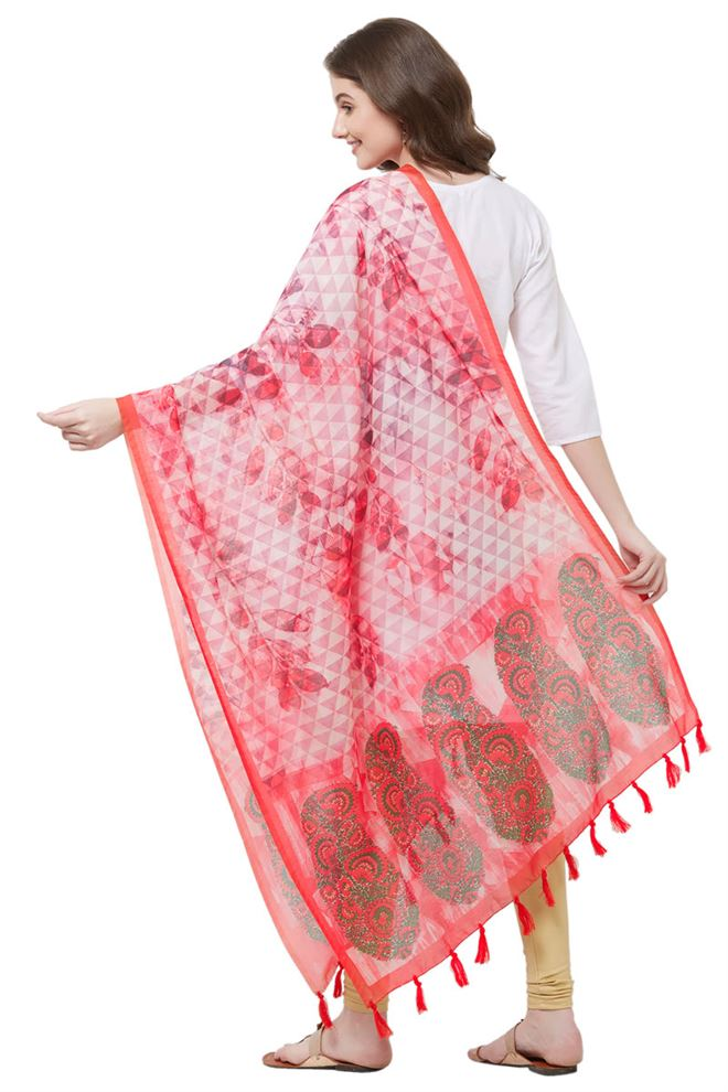 Digital Paisley Print Chanderi Silk Dupatta