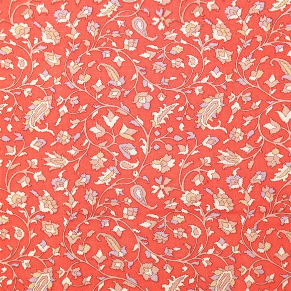 Elegant Peach Color Viscose Rayon Fabric With Machine Print - 5146B