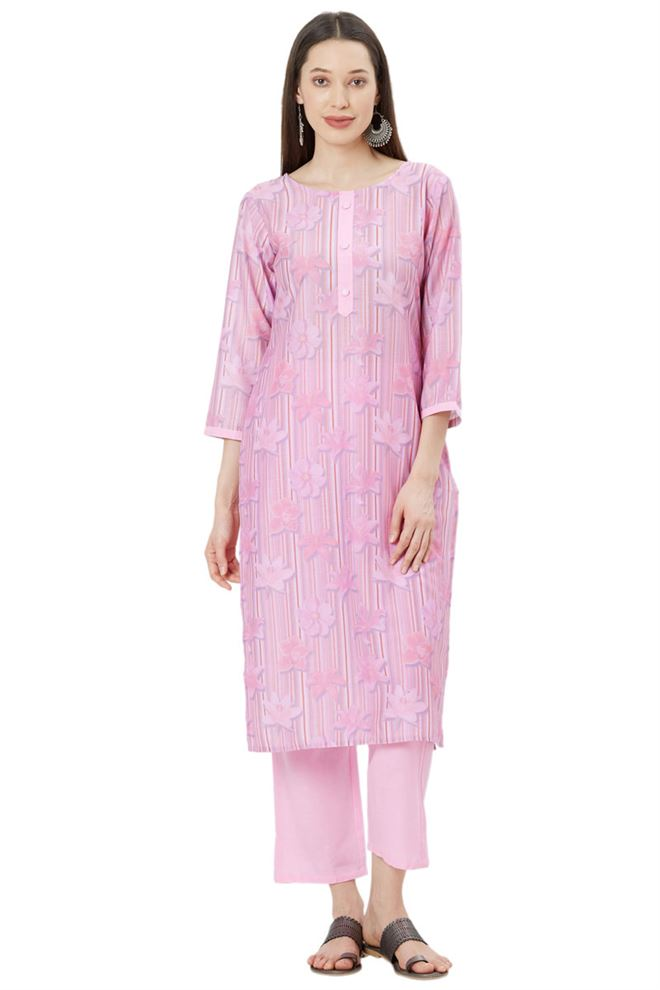 Evergreen Pink Color Unstitched Muslin Suit Dupatta