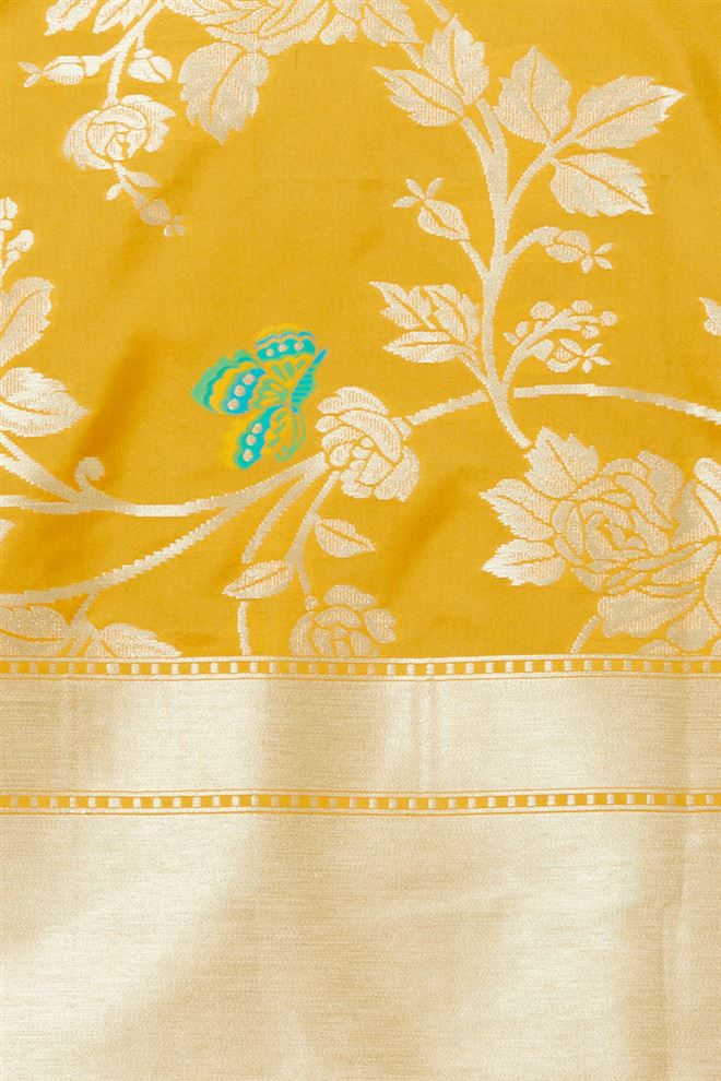 Evergreen gold color Woven Banarasi  Jaquard Dupatta