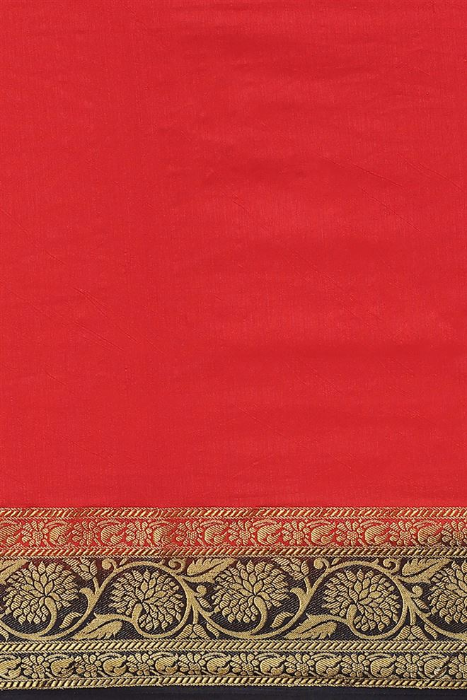 Weaving Work Red Color Party Wear Saree In Art Silk Fabric With Beautiful Blouse