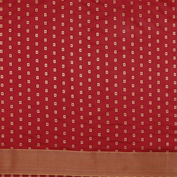 Occasion Wear Art Silk Saree In Red Color With Weaving Designs