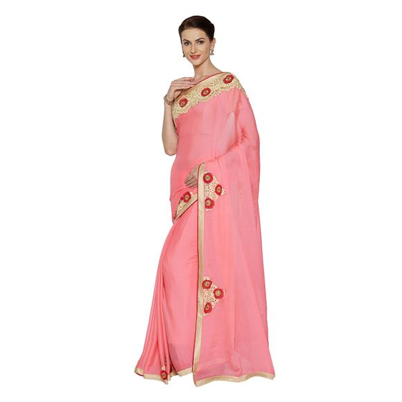Pink Weaving Work On Art Silk  Occasion Wear Saree With Enchanting Blouse