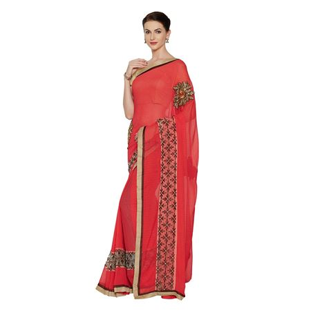 Art Silk  Pink Designer Saree With Weaving Work And Party Wear Blouse