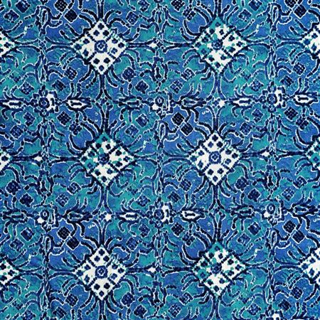 Cotton Amazing Machine Print Blue Color Fabric - 3177D
