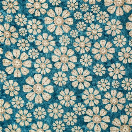 Machine Print Alluring Blue Color Cotton Fabric - 3159A