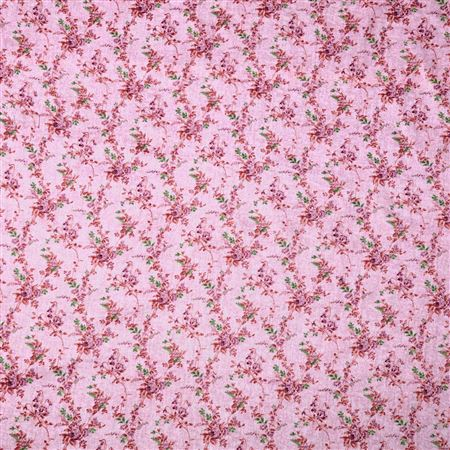 Pure Cotton Attractive Pink Color Printed Fabric - 3152A