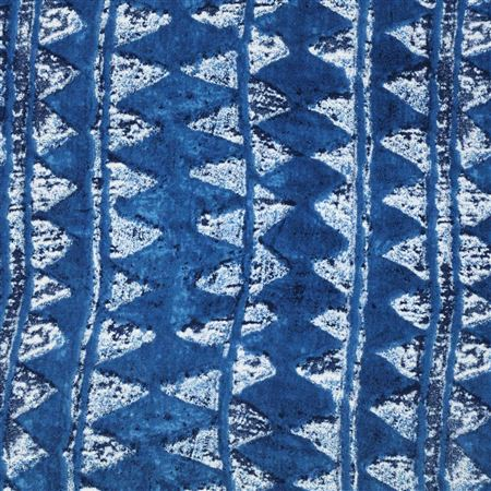 Pure Viscose Rayon Classic Blue Color Printed Fabric - 5112A