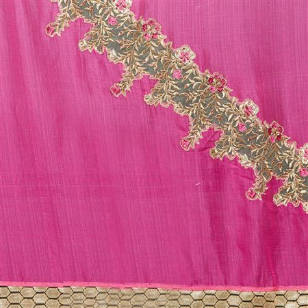 Weaving Work Designs On Art Silk  Function Wear Saree In Pink Color With Classic Blouse