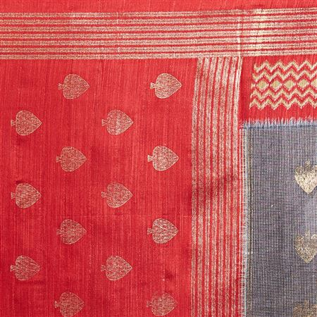 Weaving Work Designs On Tussar Silk Function Wear Saree In Grey Color With Classic Blouse