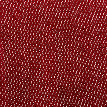Aesthetic eyes print on Rayon Fabric in Red Color