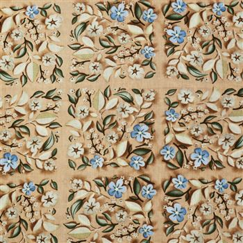 Beige Color Designer Printed Beautiful Viscose Rayon Fabric - 5104D