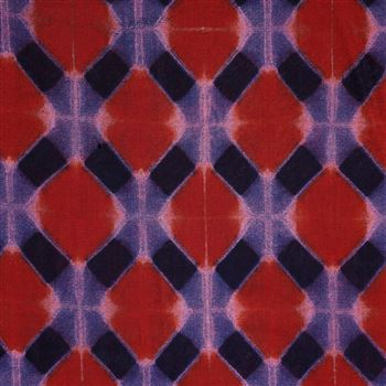 Delightful Machine Print Red Color Fancy Viscose Rayon Fabric - 5154C