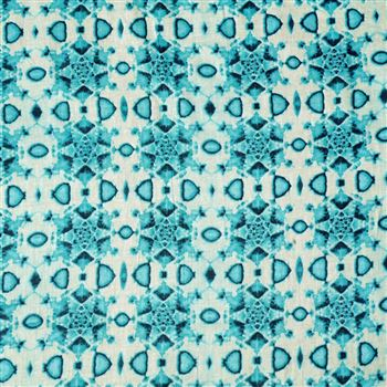 Elegant Sky Blue Color Cotton Fabric With Machine Print - 3168B