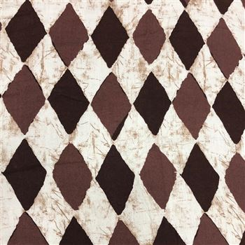 Magnificent Brown Vector Graphic Prints on Rayon Fabric