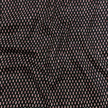 Pleasurable eyes print on Rayon Fabric in Black Color