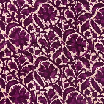 Purple Color Designer Printed Stylish Cotton Satin Fabric - 7099A